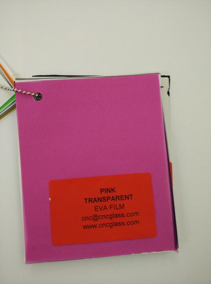 Pink EVAVISION transparent EVA interlayer film for laminated safety glass (1)