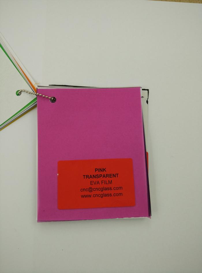 Pink EVAVISION transparent EVA interlayer film for laminated safety glass (12)