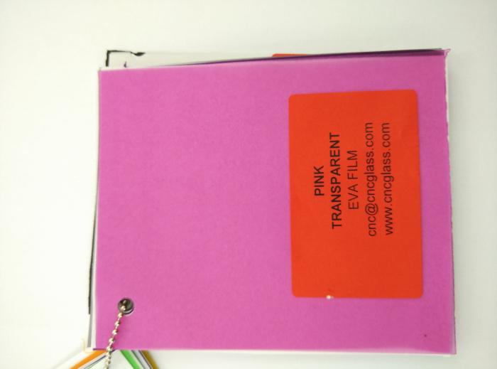 Pink EVAVISION transparent EVA interlayer film for laminated safety glass (16)