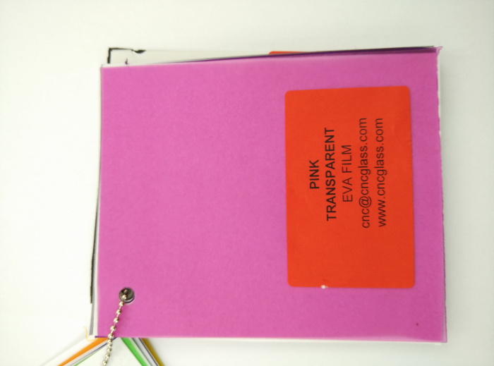 Pink EVAVISION transparent EVA interlayer film for laminated safety glass (17)