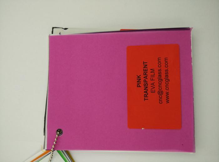 Pink EVAVISION transparent EVA interlayer film for laminated safety glass (21)
