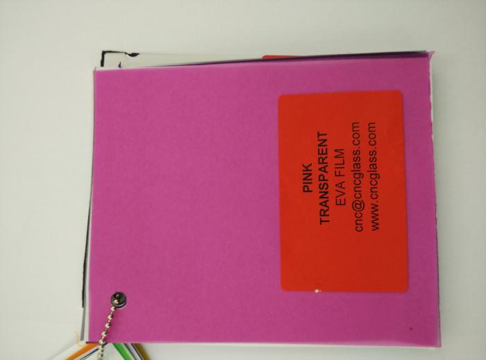 Pink EVAVISION transparent EVA interlayer film for laminated safety glass (22)