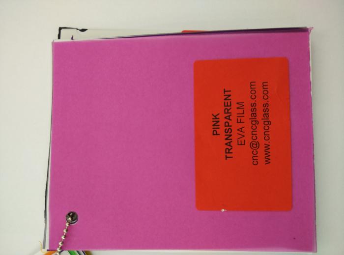 Pink EVAVISION transparent EVA interlayer film for laminated safety glass (23)