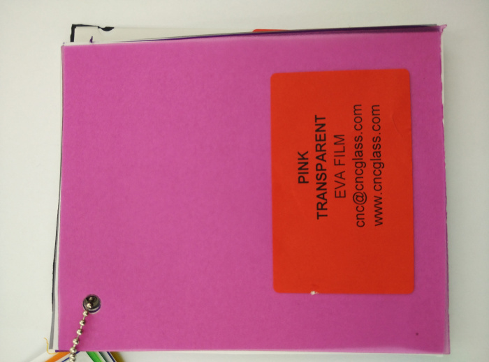 Pink EVAVISION transparent EVA interlayer film for laminated safety glass (25)