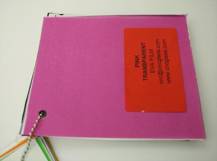 Pink EVAVISION transparent EVA interlayer film for laminated safety glass (32)