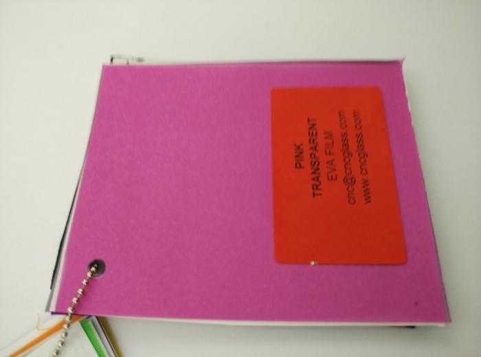 Pink EVAVISION transparent EVA interlayer film for laminated safety glass (33)