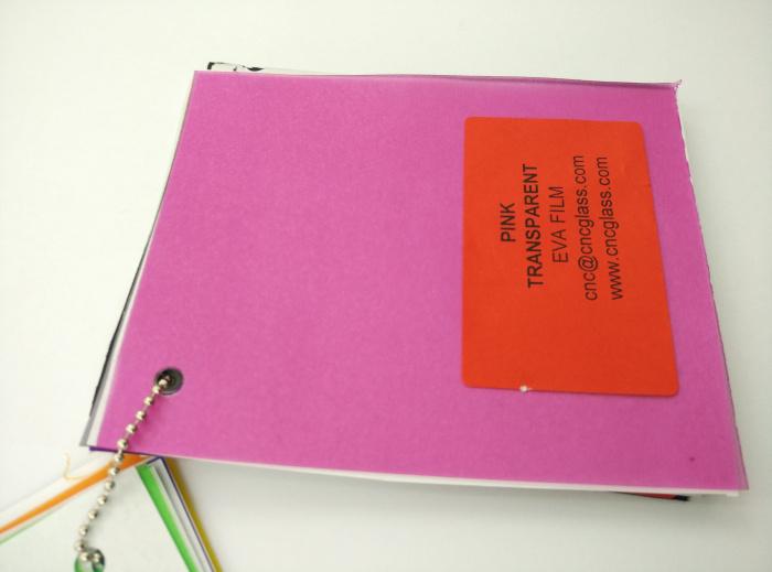 Pink EVAVISION transparent EVA interlayer film for laminated safety glass (38)