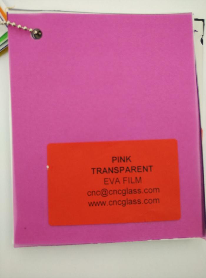 Pink EVAVISION transparent EVA interlayer film for laminated safety glass (4)