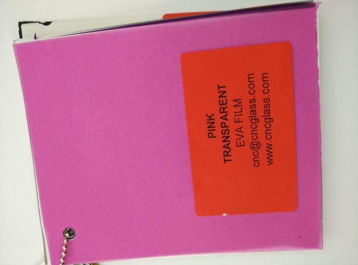 Pink EVAVISION transparent EVA interlayer film for laminated safety glass (46)
