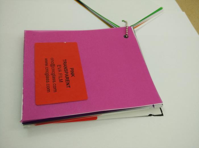 Pink EVAVISION transparent EVA interlayer film for laminated safety glass (50)