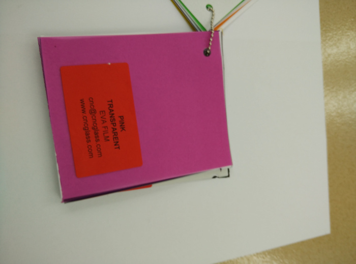 Pink EVAVISION transparent EVA interlayer film for laminated safety glass (51)