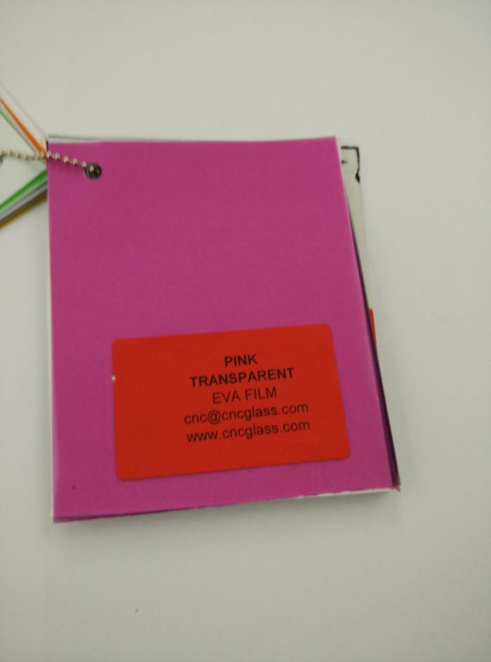 Pink EVAVISION transparent EVA interlayer film for laminated safety glass (62)