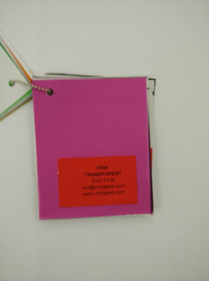Pink EVAVISION transparent EVA interlayer film for laminated safety glass (66)