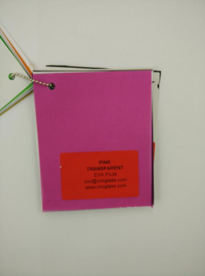 Pink EVAVISION transparent EVA interlayer film for laminated safety glass (68)