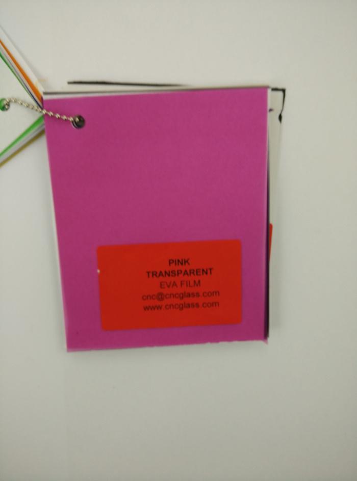 Pink EVAVISION transparent EVA interlayer film for laminated safety glass (70)