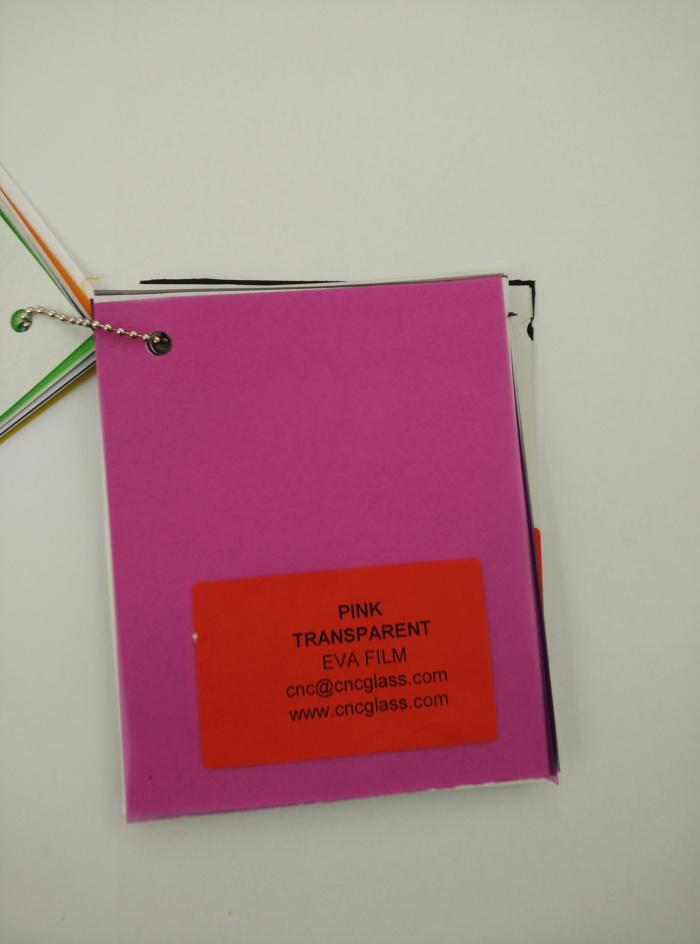 Pink EVAVISION transparent EVA interlayer film for laminated safety glass (71)